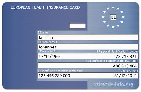 ehic Europese Gezondheidskaart